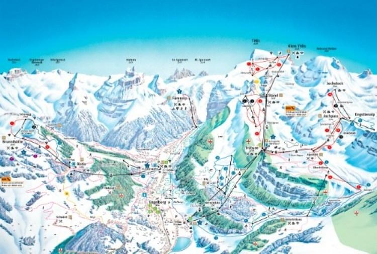 Engleberg Titlis Trail Map