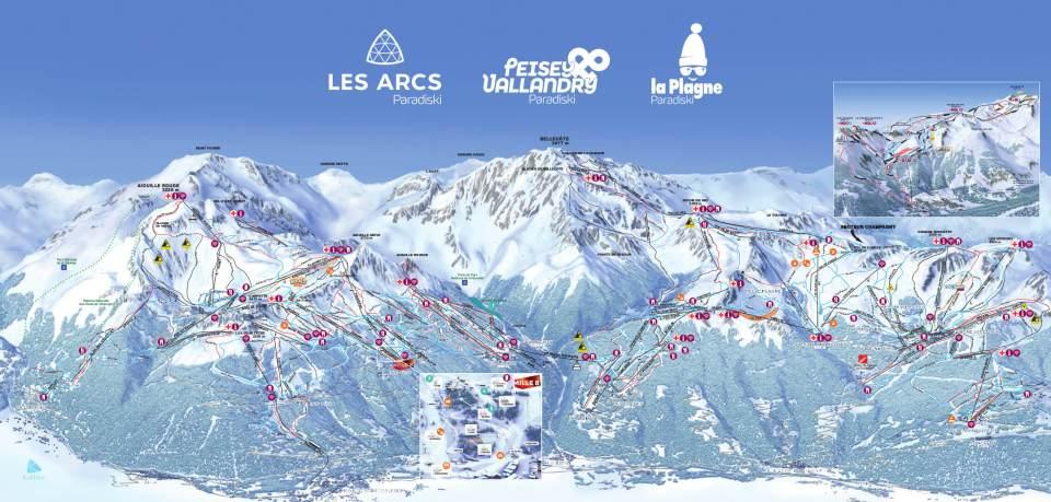 Les Arcs Piste Map