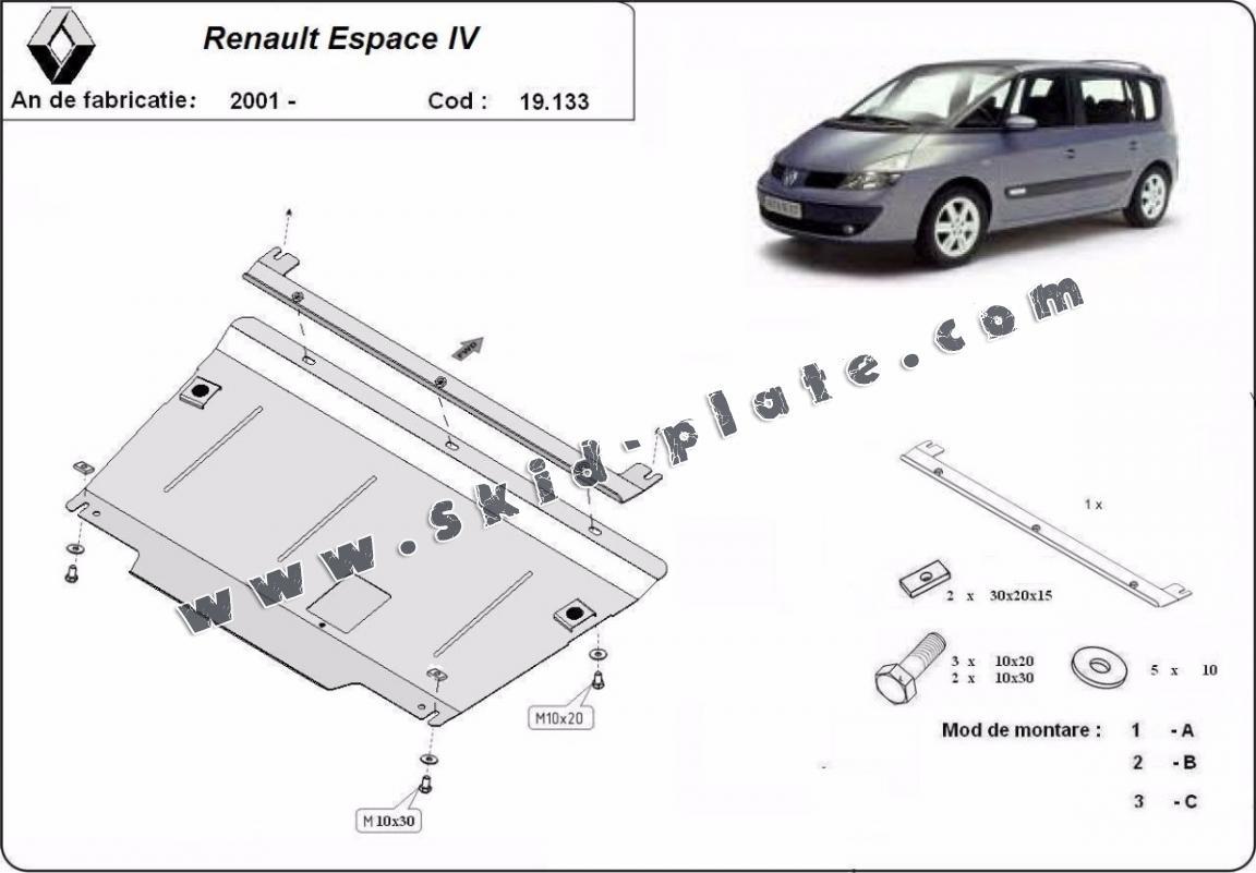 Steel Skid Plate For Renault Espace 4