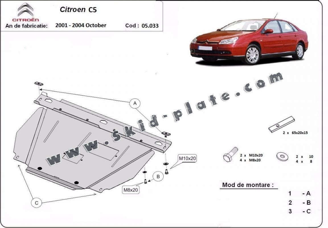 Steel Skid Plate For Citroen C5