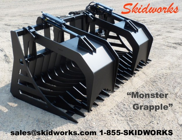 Skid steer or telehandler grapple