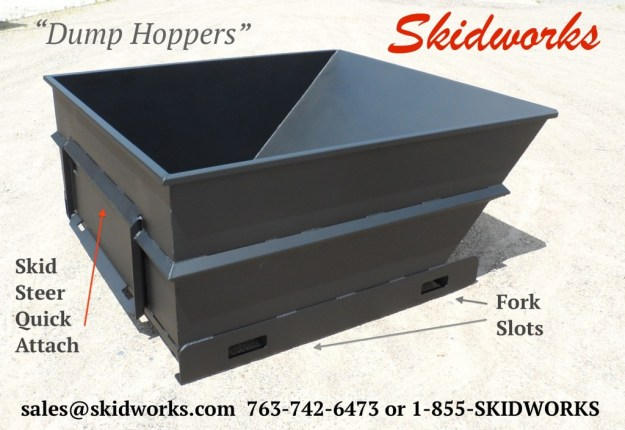 skid steer dump hopper