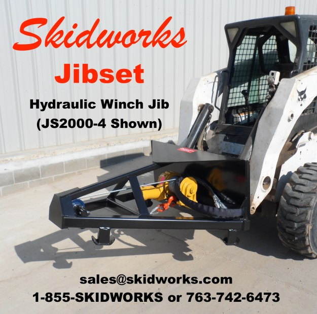 jib, hydraulic, winch, skid steer