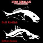Bull Redfish and Rebel Snook Fishing Decals are a hit!