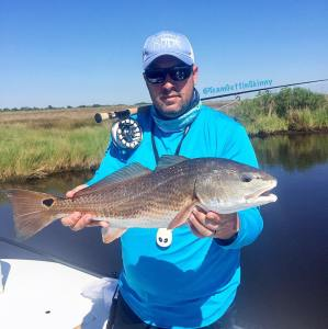 Nice red caught on the fly! …