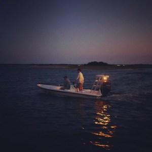 Night moves. . . . . . #skifflife #skiffsonly #maverickboats #floodtide #goodcle…