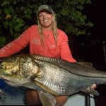 TRUE Snookzilla caught and released by Gina #skifflife