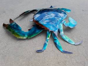 metal-crab-nautical-art
