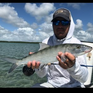 Kyle with his first ever bonefish!