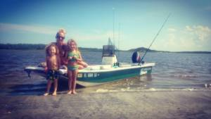 Back on the boat with my beautiful family doing some beach hopping and fishin!! …
