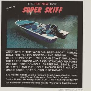 Florida Sportsman Magazine ad for my skiff the original builder shared with me ~…