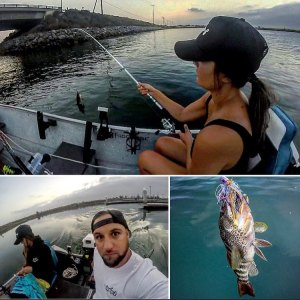 Took the wifey  out fishing yesterday to break in her custom  rod. First cast of…