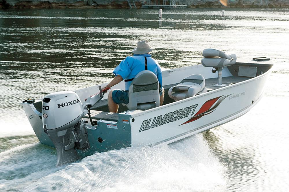 alumacraft skiff honda motor