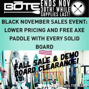 Ends Nov 30th. Lower pricing and free paddle! While supplies last! Don't wait.  …