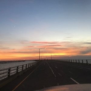Heading Back to Va Beach from visiting my Dad on The Eastern Shore of Va        …