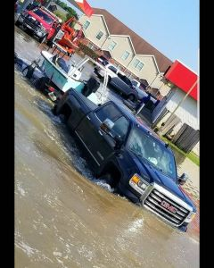 This is how we got around in  during a relief efforts a few weeks back!  truck k…
