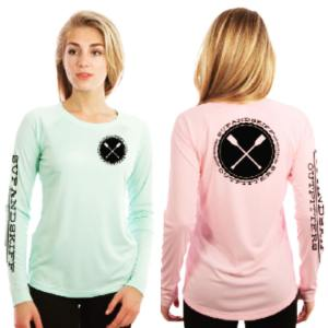 Women's Long Sleeve Performance microfiber UPF50 shirts are now avail! Two color…