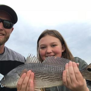 Great weekend with this beautiful little lady. She caught her first red fish. Sh…