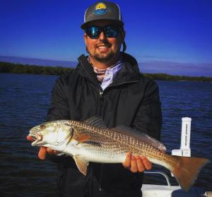 Found this BUCK NAKED Redfish this chilly December morning …