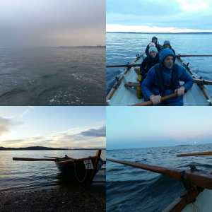 A fantastic New Year's Day row to Cramond Island today. We battled torrential ra…