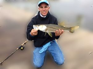 I started the new year good with this nice snook today before the cold front    …