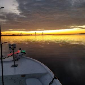Sunrise skiff views are the best