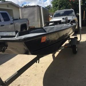 Finally got my John boat done        …