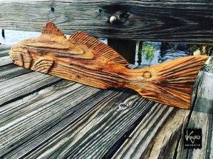 To keep in the spirit of Red October….here's another rustic redfish carving.  …