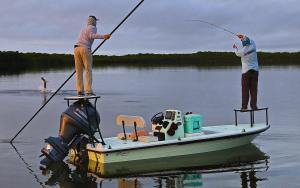 with this Tarpon on fly from the TV Series  Here you see them on their  Mirage …