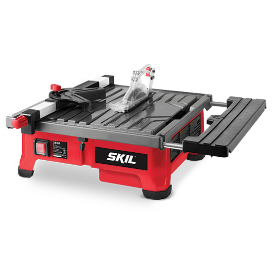 7 in wet tile saw with hydro lock system