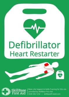 AED Standard sign uk for Defibs