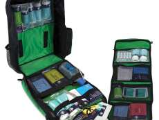 A school trip kit that is open to display all the contents and the removable middle strip.
