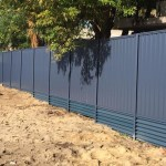colorbond fencing with retaining plinths