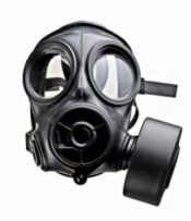 Single Filter Full Faced Gas Mask