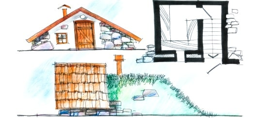 Root Cellar Drawing 1