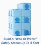Water Bricks Stacked