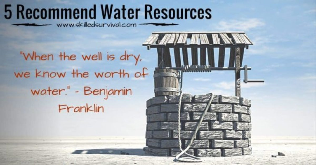 Water Well With Ben Franklin Quote