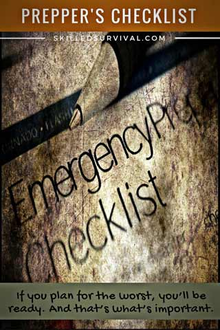 Preppers Checklist