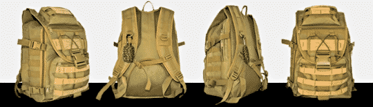 row of images combat bag