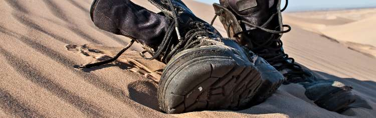 Tactical Boots In The Sand (1)