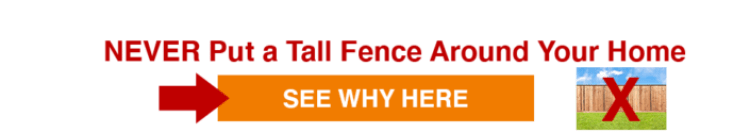Click here to see why you should never put a tall fence around your home