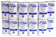 Stack Of Canned Water For Emergencies