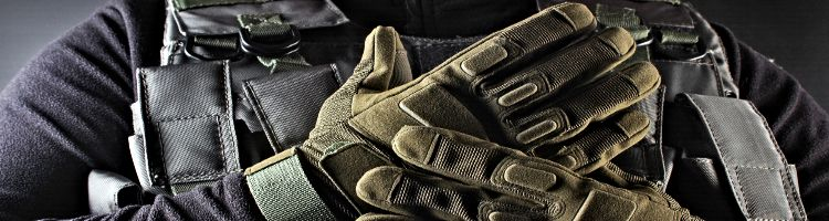 Warrior With Military Gloves
