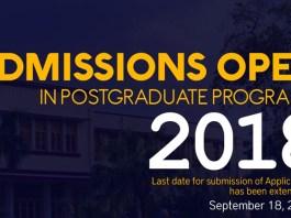 University of Sargodha Admission 2018