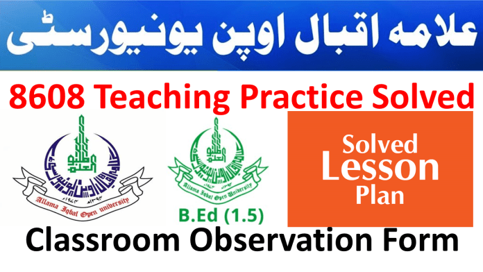 Manual Teaching Practice 8608 Solved