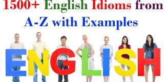 1500+ English Idioms from A-Z with Examples
