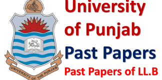 Punjab University Lahore Past Papers of LLB Download PDF