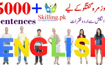 Daily Life English to Urdu Commonly Used Sentences for Spoken English