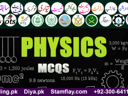 Physics MCQs with answers - Entry Test Preparation