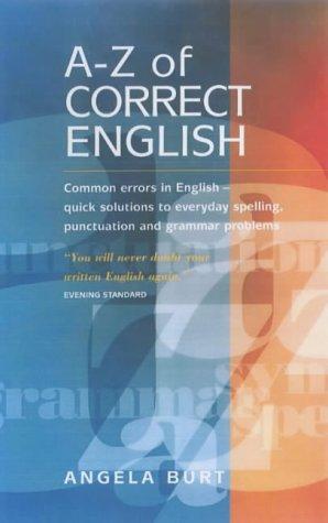 A-Z of Correct English Common Errors in English PDF
